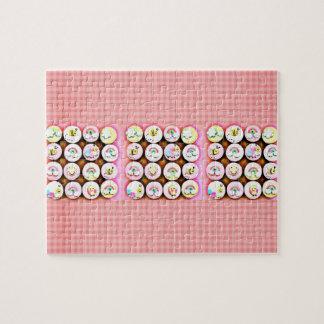 女の赤ちゃんのカップケーキ ジグソーパズル