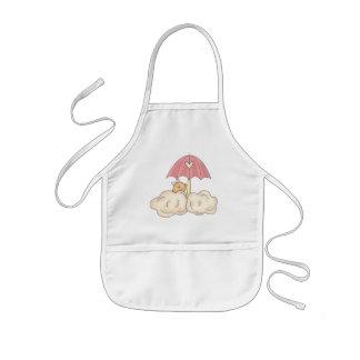 女の赤ちゃんのシャワー 子供用エプロン