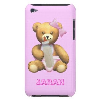 女の赤ちゃんのテディー・ベア-変更の名前-サラ Case-Mate iPod TOUCH ケース