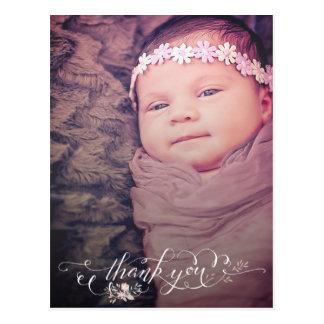 女の赤ちゃんの一口は及び誕生の発表感謝していすために見ます はがき