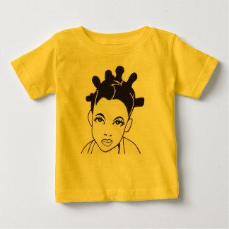 女の赤ちゃんの幼児幼児のジャージーのニットのTシャツ ベビーTシャツ