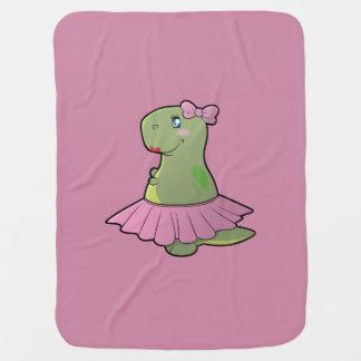 女の赤ちゃんの恐竜のTレックス毛布 ベビー ブランケット