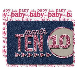 女の赤ちゃんの月例マーカージャーナルカード カード