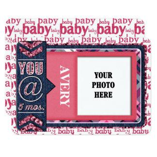 女の赤ちゃんの月例写真ジャーナルカード カード