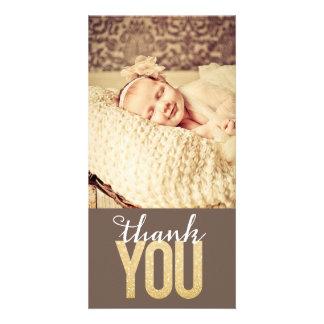 女の赤ちゃんの男の子は写真カード感謝していしています カード