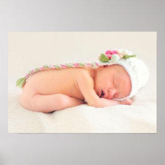 女の赤ちゃんの睡眠 ポスター