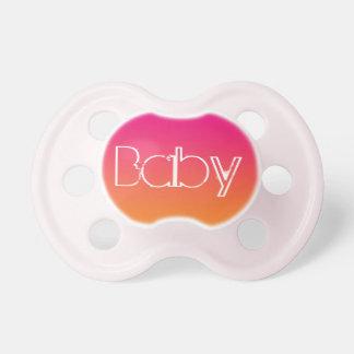 女の赤ちゃんの調停者: ピンクのオレンジグラデーション おしゃぶり