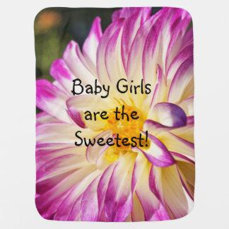 女の赤ちゃんは最も甘い赤ん坊の毛布のダリアです ベビー ブランケット
