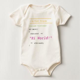 女の赤ちゃん最初C++ プログラム ベビーボディスーツ