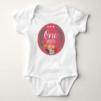 女の赤ちゃん月のボディスーツ ベビーボディスーツ