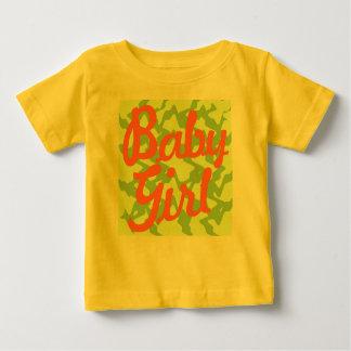 女の赤ちゃん-熱帯一見 ベビーTシャツ