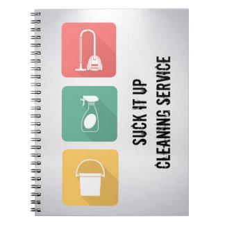 女中サービスまたはクリーニングサービス カスタムなノート ノートブック