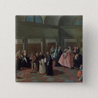 女子修道院の訪問パーラー 5.1CM 正方形バッジ