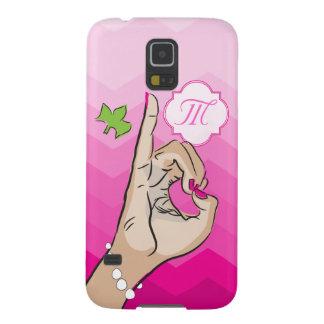女子学生クラブの生命ピンクおよび緑 GALAXY S5 ケース
