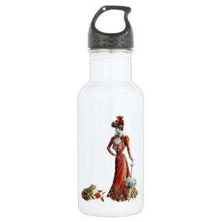 女性およびカエル ウォーターボトル