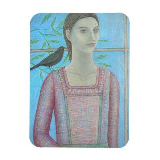 女性およびクロドリは1 2012年です マグネット