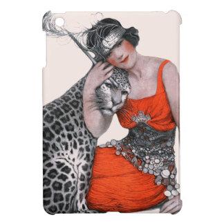 女性およびヒョウ iPad MINI カバー