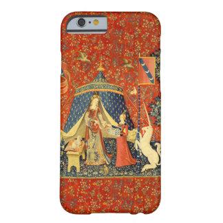 女性およびユニコーンの中世タペストリーの芸術 BARELY THERE iPhone 6 ケース