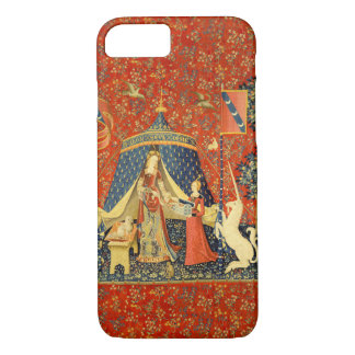 女性およびユニコーンの中世タペストリーの芸術 iPhone 8/7ケース