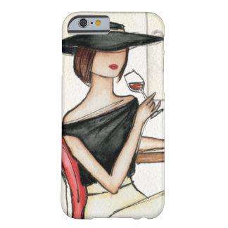 女性およびワイングラス BARELY THERE iPhone 6 ケース