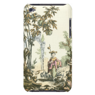 女性および動物が付いているアジア庭 Case-Mate iPod TOUCH ケース