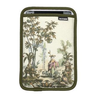 女性および動物が付いているアジア庭 iPad MINIスリーブ