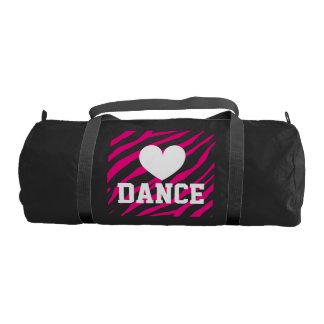 女性および女の子|のシマウマのプリントのためのduffleバッグを踊って下さい ジムバッグ