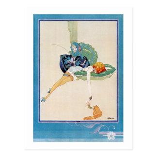 女性および猫、Chéri Hérouard ポストカード