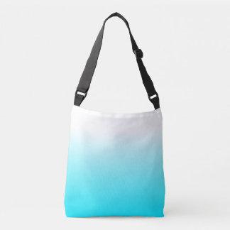 女性によっては装飾のトレンディーのカッコいいの水の青いグラデーションが家へ帰ります クロスボディバッグ