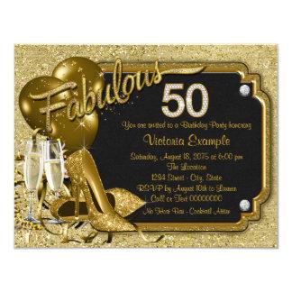 女性のすばらしい50誕生会 カード