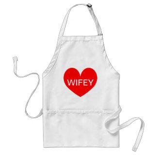 女性のためのおもしろいなエプロン| Wifey スタンダードエプロン