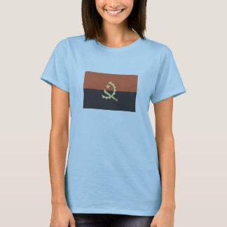 女性のためのアンゴラのTシャツの旗 Tシャツ