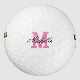 女性のためのカスタムなピンクの一流のモノグラムのゴルフ・ボール ゴルフボール