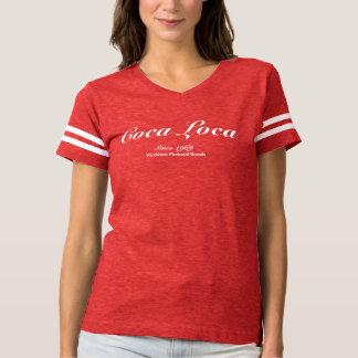 女性のためのコカノキの位置のTシャツ Tシャツ