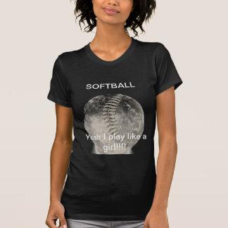 女性のためのソフトボールのTシャツ Tシャツ