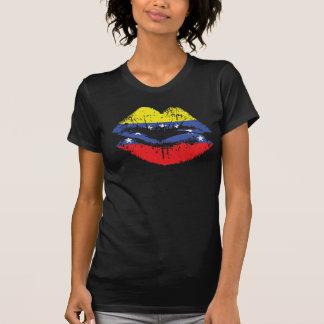 女性のためのベネズエラの唇のTシャツのデザイン Tシャツ