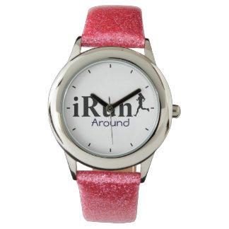 女性のためのユーモアのあるなランニングの腕時計のまわりのイルン 腕時計