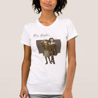 女性のための灰色のグリフィンの写実的なティー Tシャツ