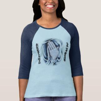 女性のための祈りの言葉のRaglanのTシャツの力 Tシャツ