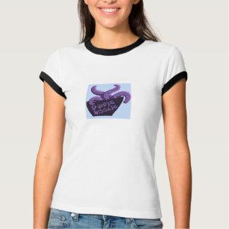 女性のための紫色のヌードルのティー Tシャツ