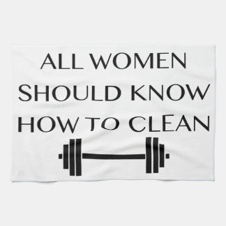 女性のための重量挙げ キッチンタオル