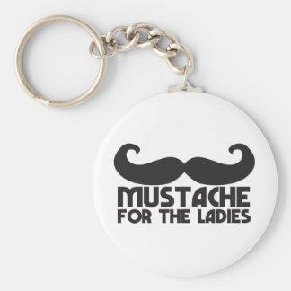 女性のための髭 キーホルダー
