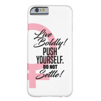 女性のための「生きているBoldy」のiPhoneの場合 Barely There iPhone 6 ケース