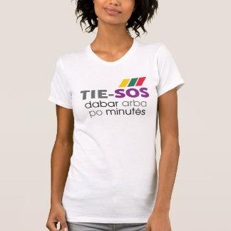 女性のためのTシャツTieSOS Tシャツ