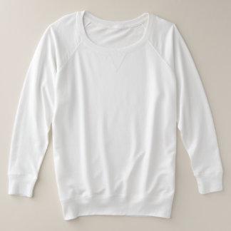 女性のとサイズのフランス人のテリーの長袖のワイシャツ プラスサイズスウェットシャツ
