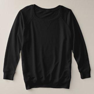女性のとサイズのフランス語テリー長く4は選択を着色します プラスサイズスウェットシャツ