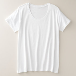 女性のとサイズの基本的なTシャツ プラスサイズTシャツ