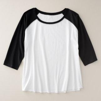 女性のとサイズ3/4の袖のRaglan 3色の選択 プラスサイズラグランTシャツ