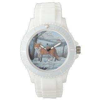 女性のアカギツネ 腕時計