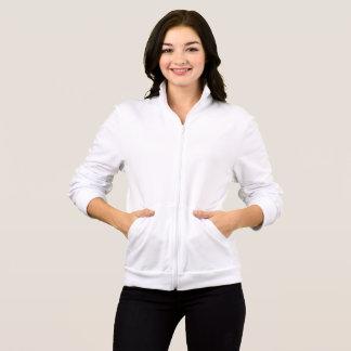女性のアメリカの服装のフリースのジッパーのフード付きスウェットシャツ
